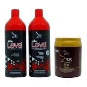 Escova Progressiva Zap Me Leva 2x1 Litro + Ztox Btxx 950g