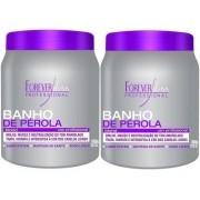 Forever Liss Kit 2 Banho De Pérola Loiro Brilhante 1kg