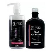 G10 - Gel De Barbear Shaving 500g + Loção Pós Barba 240ml