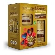 Kit Banho De Verniz Forever Liss Com Shampoo 300ml - Economico