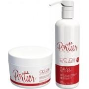 Kit Btox Ciclos 250g + Shampoo Anti Resíduos 500ml Portier