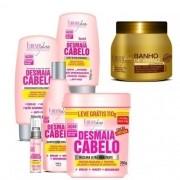 Kit Completo Desmaia Cabelo 350g + Mascara Banho Verniz 250g