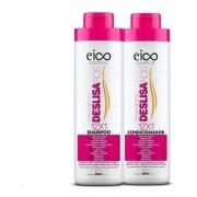 Kit Eico Deslisa Fios Shampoo 800ml + Condicionador 800ml