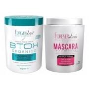 Kit Forever Liss -  Btox Organico 1kg - Mascara Alto Impacto 1kg