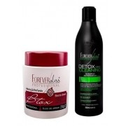 Kit Shampoo Antirresiduos Detox Capilar + Btox Argan 250g