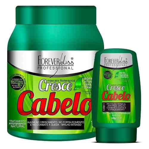 Kit Forever Liss Cresce Cabelo Máscara 1kg + Leave-in 140g