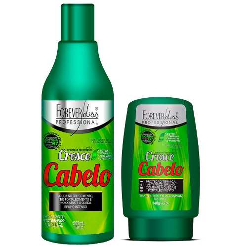 Kit Cresce Cabelo Shampoo 500ml + Leave-in 140g - Forever Liss