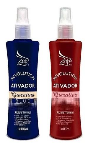 1 Ativado Queratina Blue+1 Ativador Queratina Revolution Zap