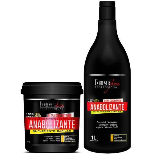 Kit Anabolizante - Shampoo Litro + Máscara 240g - Forever Liss