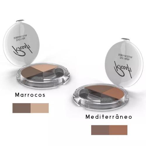 2 Sombra Duo De Sobrancelha Marrocos + Mediterraneo Ricosti