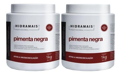 2 un - Creme Hidramais Pimenta Negra 1 Kg