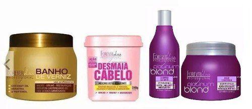 Combo Banho De Verniz 250g + Desmaia Cabelo 350g + Kit Platinum Blonde