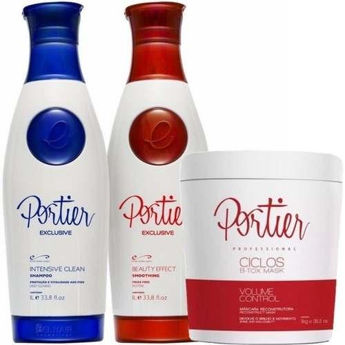 Escova Progressiva Profissional Portier Fine + Botox Ciclos Portier