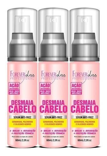 3 Sérum Desmaia Cabelo Forever Liss 60ml - Anti Frizz