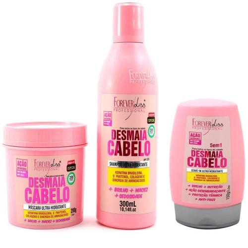 Kit Desmaia Cabelo Foreverliss 200g + shampoo 300ml +leave-in