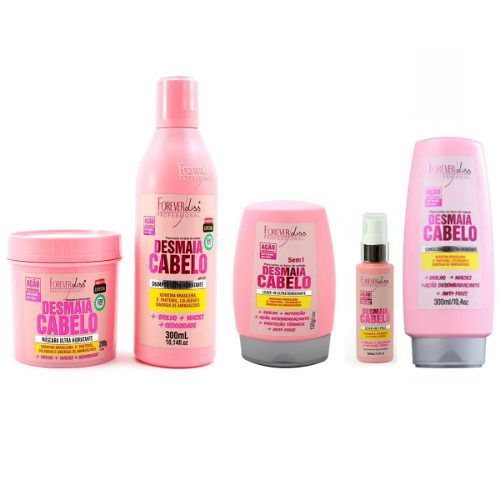 Kit Completo Desmaia Cabelo Forever Liss Economico + 3 saches Brindes