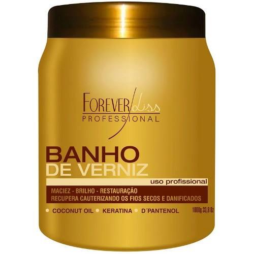 Kit Forever Liss Duo Platinum Blond + Banho De Verniz 1kg