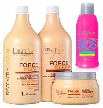 Forever Liss Sos 300ml+ Force Repair Shampoo, Cond E Máscara