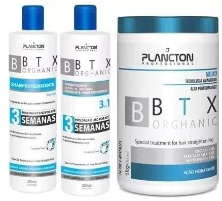 Kit Tratamento Organico Plancton Mascara 1kg - Shampoo - Condicionador