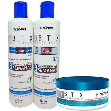 Kit Btx Organico 250g Sem Formol + Shampoo + Condicionador Plancton