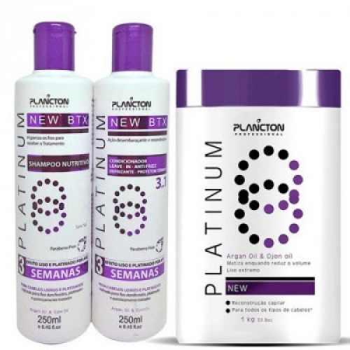 Kit Btx Platinum Matizador - Shampoo + Condicionador E Btx 1kg - Plancton