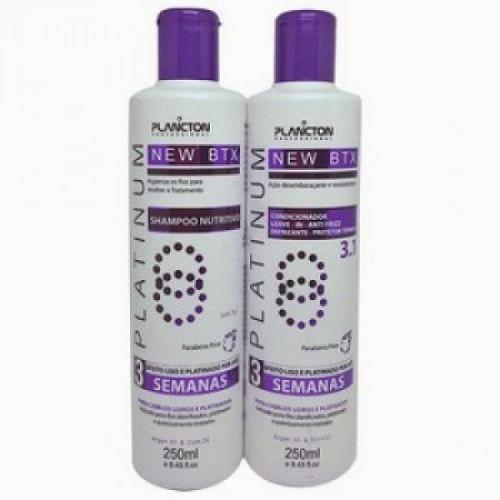 Kit Matizador Shampoo E Condicionador 250ml - Btx Platinum - Plancton
