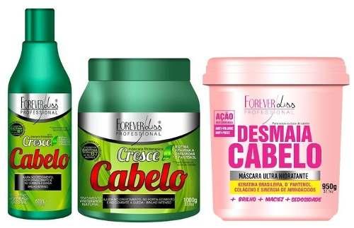 Kit Cresce Cabelo forever liss + Desmaia Cabelo 950g