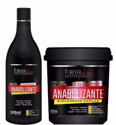 Kit Shampoo Anabolizante Capilar 300ml + Mascara Anabolizante 240g