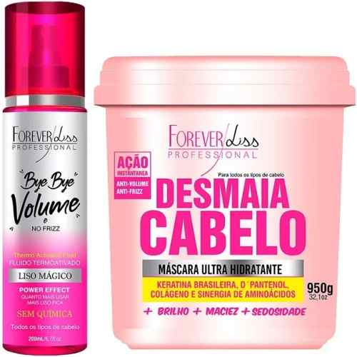 Mascara Desmaia Cabelo 950g + Bye Bye Volume - Forever Liss