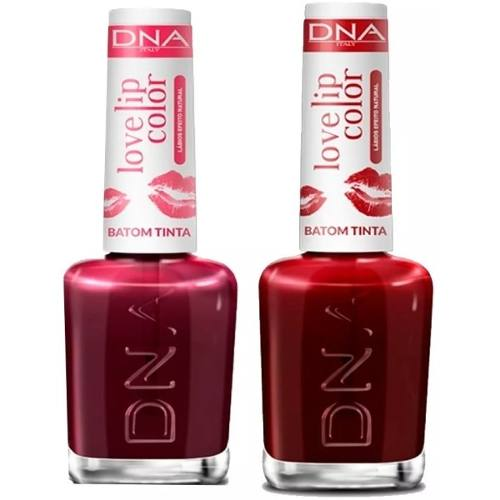 Kit 2 Batons Liquido Lip Color Dna - Love Red