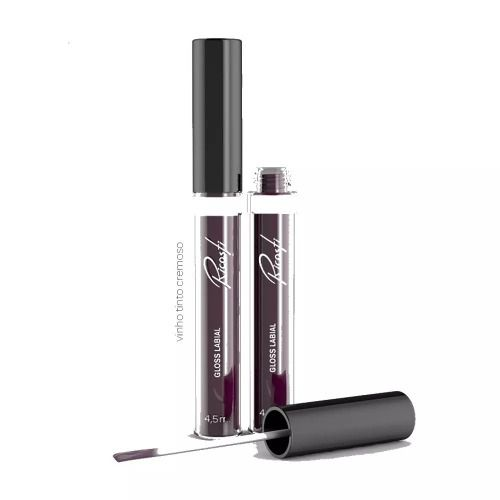 Gloss Labial 4,5ml - Cor Vinho Tinto - Ricosti
