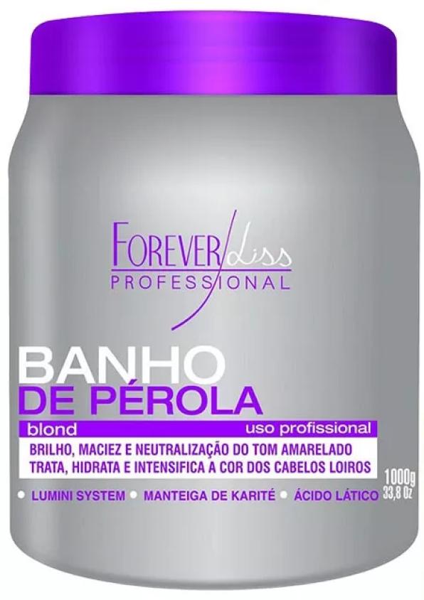 Anabolizante Capilar 950g + Banho De Pérola 1kg  Forever Liss