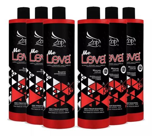 3 Un Kit Escova Progressiva Zap All Time Me Leva B