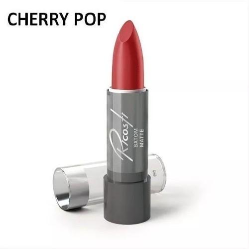 Batom Bastao Matte - Ricosti - Cor Cherry Pop