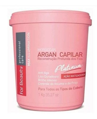 Btoxx Capilar 250g Matizador Argan Platinum For Beauty