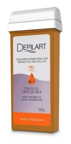 Cera Roll-on Mel 100g Corporal Todos Tipos De Peles Depilart