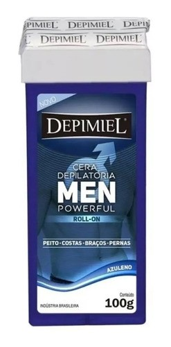 Cera Roll-on Men 100g Azuleno Pele Masculina Depimiel