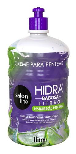 Creme Para Pentear Hidra Babosa 1 Litro Salon Line