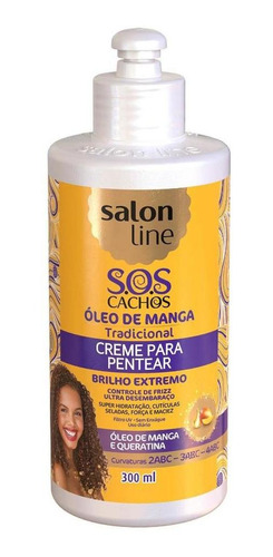 Creme Para Pentear Sos Cachos Óleo De Manga Salon Line 300ml