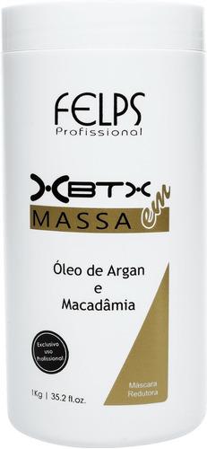 Felps Xbtx Okra 1kg Redutor Volume Óleo De Argan E Macadamia