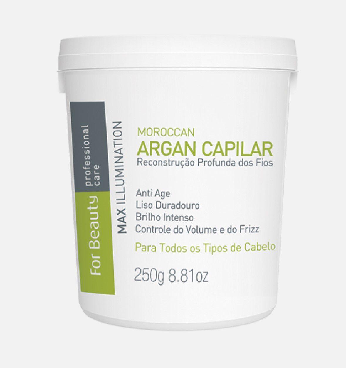 For Beauty Max Illumination Argan Oil Btx Capilar 250g