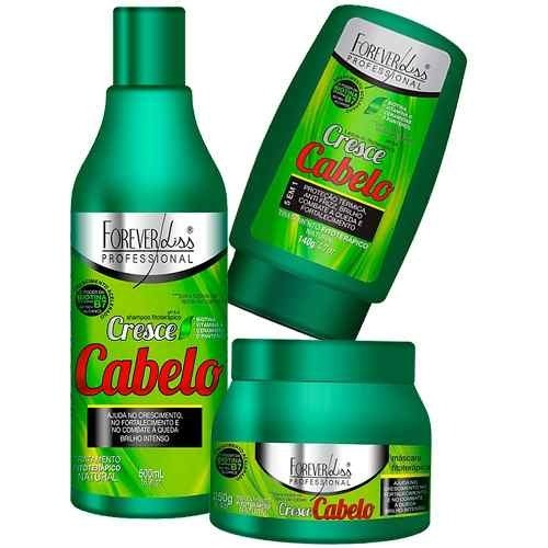 Forever Liss Cresce Cabelo Shampoo + Máscara 250g + Leave-in