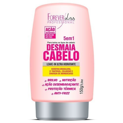 Forever Liss Desmaia Cabelo Shampoo + Leave-in + Máscara 950g