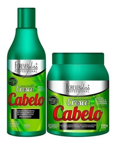 Forever Liss Kit Cresce Cabelo - Máscara 1kg + Shampoo