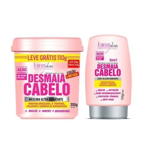 Forever Liss - Kit Desmaia Cabelo Máscara 350g + Leave-in