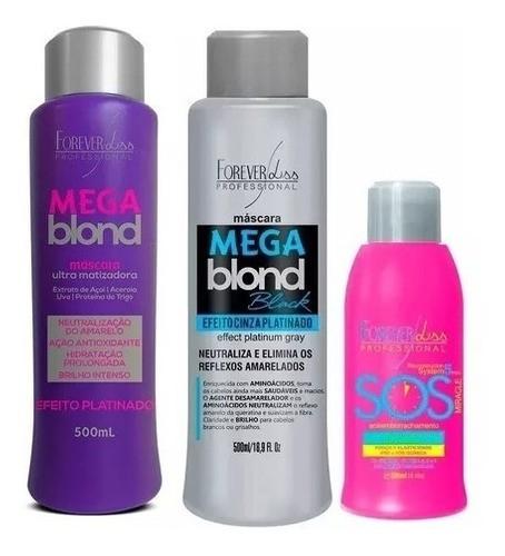 Forever Liss Sos + Mega Blond Black + Mega Blond Ultra