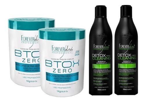 Kit 2 Btx Zero 1kg E 2 Shampoos Detox - Forever Liss
