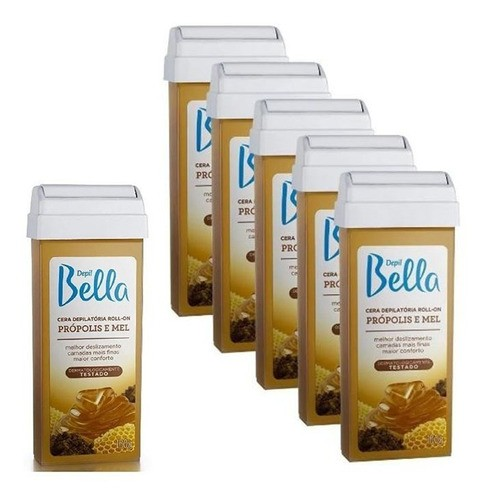 Kit 6 Cera Rolon Depilação Depil Bella Própolis E Mel