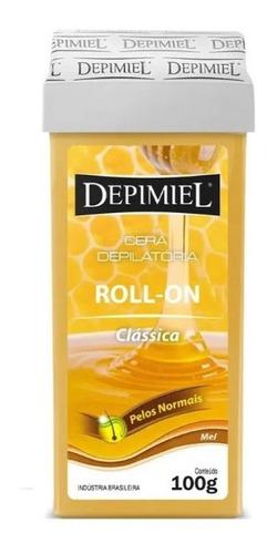 Kit c/ 24un Cera Depilatória Depimiel Roll-on Clássica 100g