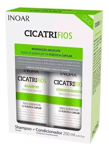 Kit Cicatrifios Shampoo Condicionador Home Care 250ml Inoar
